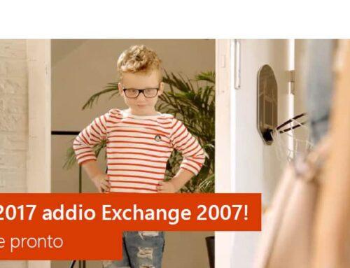 11 Aprile 2017 – Addio Exchange 2007