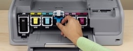 cambio cartucce stampante